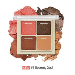 Bảng phấn mắt 4 ô Etude House Blend For Eyes 8g #6 Blooming Coral