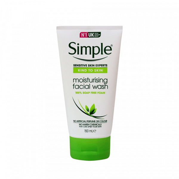 Sữa rửa mặt Simple Sensitive Kind To Skin Moisturising Facial Wash 150ml