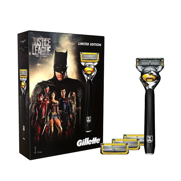 Set dao cạo râu Gillette Fusion 5 ProShield Justice League Limited Edition